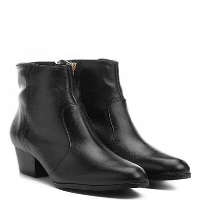 Bota Couro Cano Baixo Shoestock