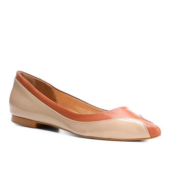 93d566cf7b Sapatilha Couro Shoestock Bico Redondo Ondas Feminina - Marrom e ...