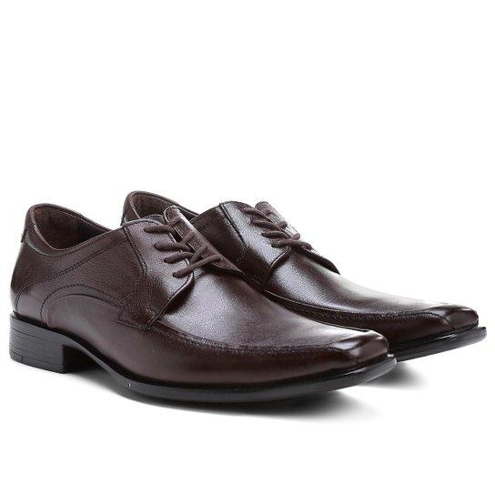 3b3585fdc Sapato Social Couro Democrata Hampton - Café - Compre Agora