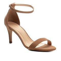 4739ff252 Sandália Couro Shoestock Naked Salto Fino Feminina