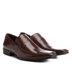 cb99e949b3 Sapato Social Couro Shoestock Detalhe Gravata - Marrom Claro