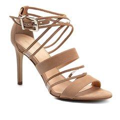 8f4f22df3 Sandália Couro Shoestock Salto Fino Vinil Feminina