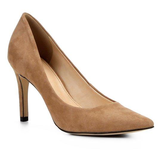 ee2321168 Scarpin Couro Shoestock Salto Alto Bico Fino - Nude | Shoestock