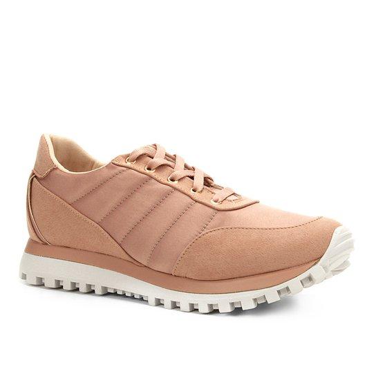 1c48b0d92ca Tênis Shoestock Jogging Cetim Feminino - Rosa Claro - Compre Agora ...