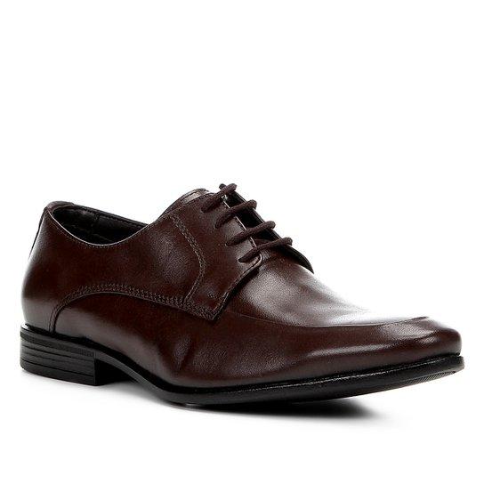 057e647e7d Sapato Social Couro Shoestock Tradicional Masculino - Café