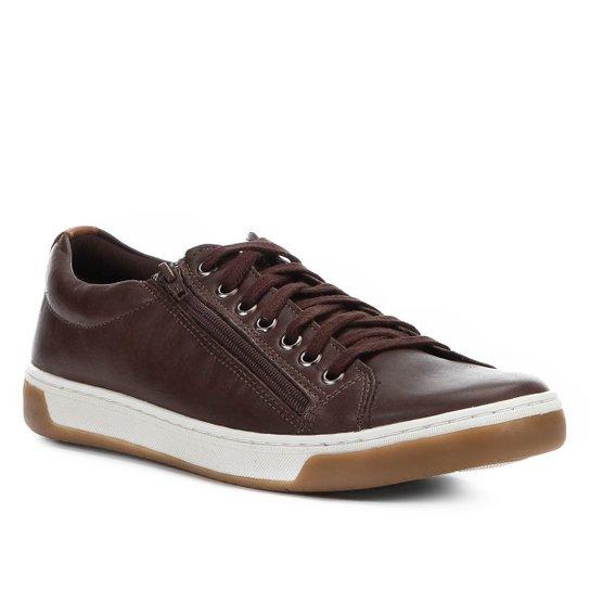 053ab23e30f Sapatênis Couro Shoestock Zíper Masculino - Compre Agora