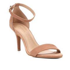 78fb68090 Sandália Couro Shoestock Salto Fino Naked Básica Feminina