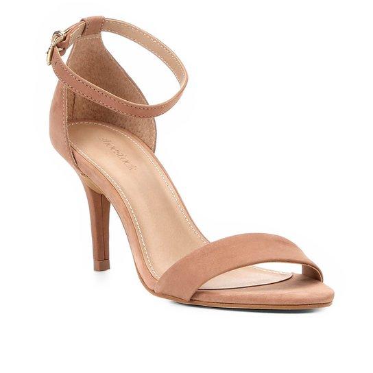 e36dd6bb32 Sandália Couro Shoestock Salto Fino Naked Básica Feminina - Nude ...