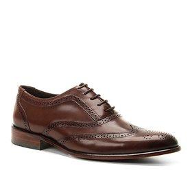 f2cfb21eea Sapato Social Couro Shoestock Tradicional Romana Masculino - Café ...