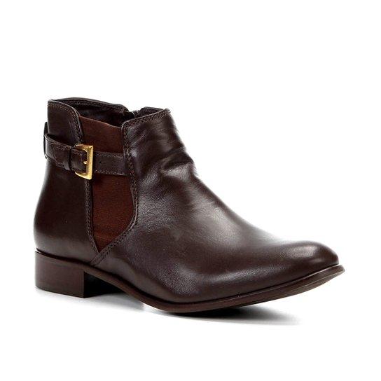 2f1f4db94 Bota Cano Curto Shoestock Fivela Elástico Feminina - Café | Shoestock