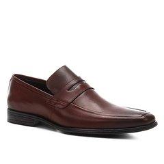 bb7a6f3796 Sapato Social Couro Shoestock Bico Quadrado Masculino