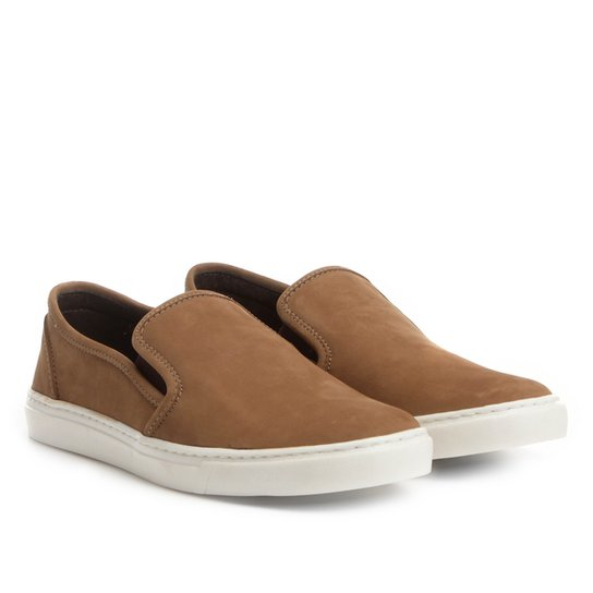 0f1b5f6a80 Slip On Couro Shoestock Nobuck Masculino - Bege - Compre Agora ...