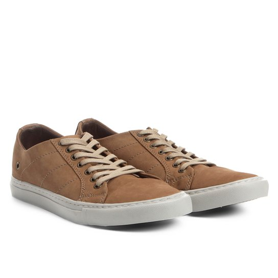 e70efafc05 Sapatênis Couro Shoestock Nobuck Color Masculino - Bege