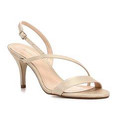 65210b96b0 Sandália Shoestock Salto Fino Cetim Feminina