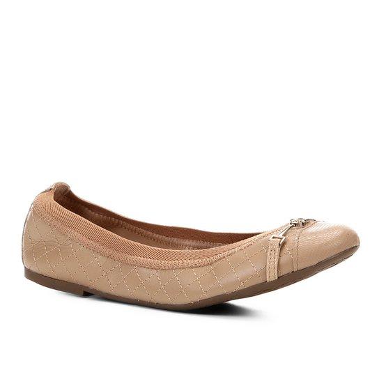 716e3b6c7 Sapatilha Couro Shoestock Matelassê Bico Redondo Feminina - Bege ...