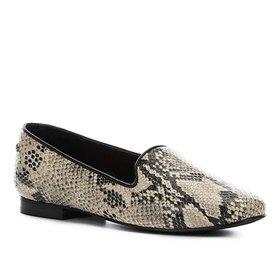 1ab119660c Mocassim Couro Shoestock Franja Apliques Feminina - Preto - Compre ...