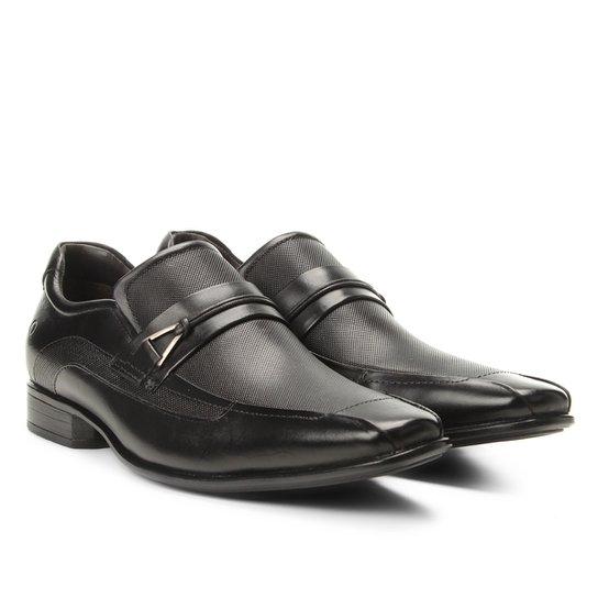 d33d440222 Sapato Social Democrata Detalhe Fivela Clyde Masculino - Preto ...