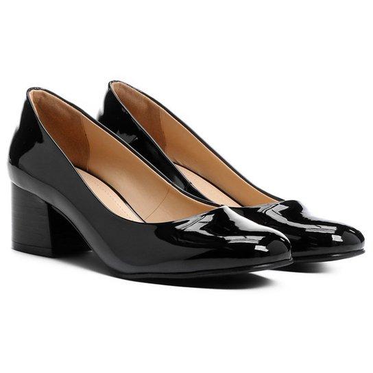 2227e500e1 Scarpin Shoestock Redondo Salto Bloco - Compre Agora