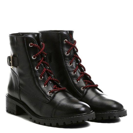 b64f82e0f Bota Couro Coturno Shoestock Fivela Feminina | Shoestock