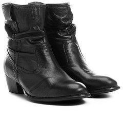 6ab18bff5e6 Bota Slouch Shoestock Couro Cano Curto Feminina