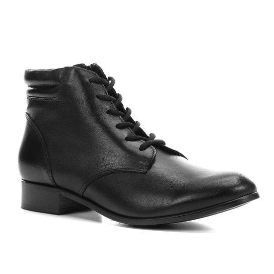e323f65c7 Bota Coturno Shoestock Couro Feminina - Preto - Compre Agora