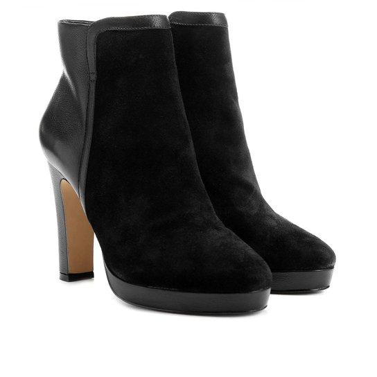 9d41e28e7c7 Bota Couro Shoestock Cano Curto Meia Pata - Preto - Compre Agora ...