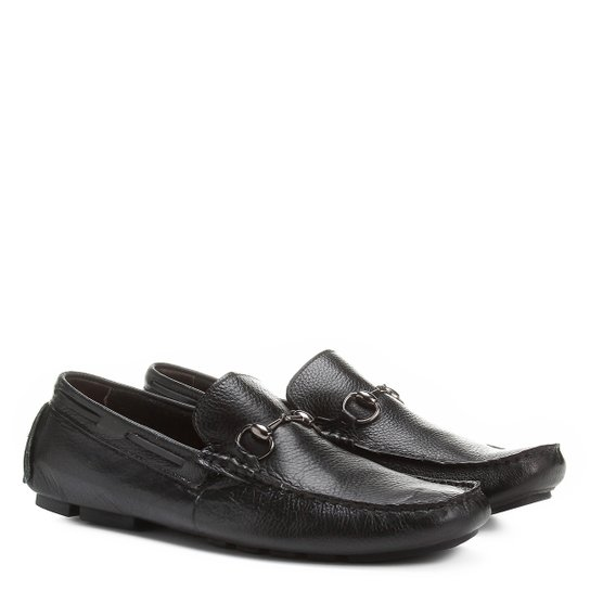 2f3c51a0a Mocassim Shoestock Fivela Couro Masculino - Preto | Shoestock