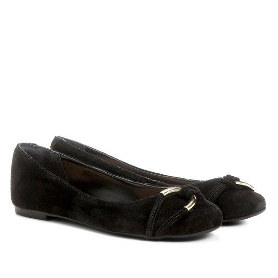 2a5a0e0e3 Sapatilha Couro Shoestock Elo Feminina - Preto | Shoestock
