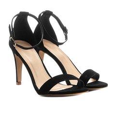 6ef148722 Sandália Couro Shoestock Salto Fino Naked Feminina