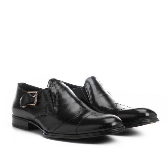 64cd017570 Sapato Social Couro Shoestock Fivela Lateral - Preto