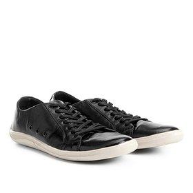 8874042901 Sapatênis Couro Shoestock Nobuck Color Masculino - Preto
