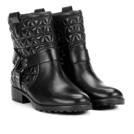 759e73b28 Bota Biker Shoestock Matelassê Feminina - Preto   Shoestock