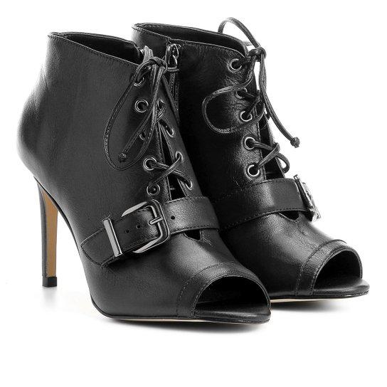 ca5fee577 Sandália Couro Shoestock Fivela Feminina - Preto | Shoestock