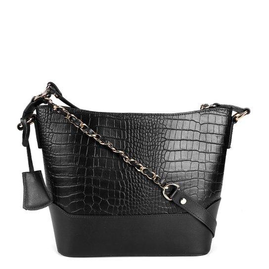 bb22866a1f Bolsa Couro Shoestock Tiracolo Alça Corrente Feminina - Compre Agora ...