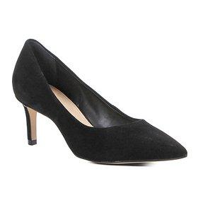 190f19fde2 Scarpin Couro Shoestock Salto Médio Nobuck - Pink