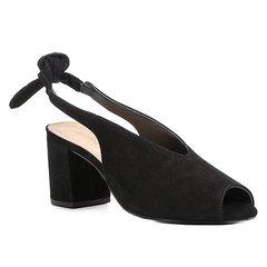 00d057c06 Sandália Couro Shoestock Salto Bloco High Vamp Feminina
