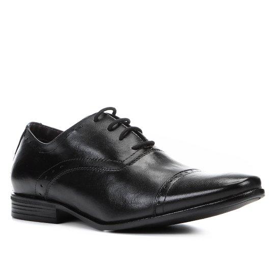 6a419207c3 Sapato Social Couro Shoestock Brogues Masculino - Preto