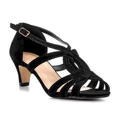 817711ddbf Sandália Shoestock Salto Baixo Art Nouveau