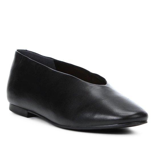 0cfae043ec Sapatilha Couro Shoestock Confort Feminina - Preto - Compre Agora ...