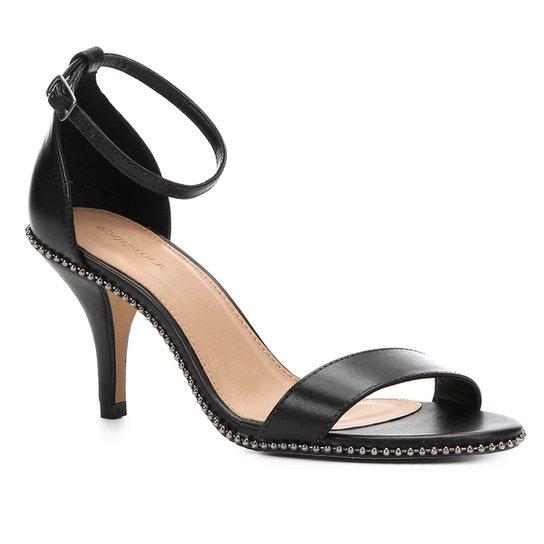 fec815a617 Sandália Couro Shoestock Salto Fino Glam Feminina - Preto - Compre ...