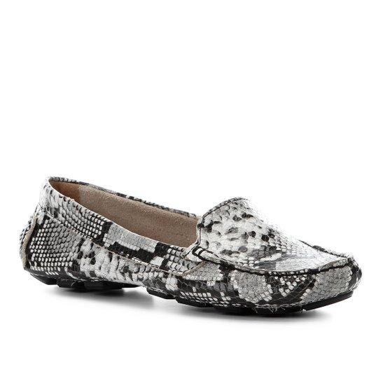 9b5d475cf9 Mocassim Couro Shoestock Wild Snake Feminino - Preto - Compre Agora ...