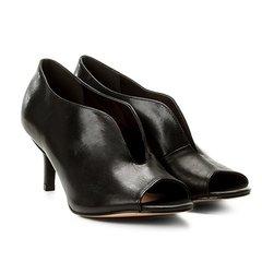 d7358d009 Sandália Couro Shoestock Salto Médio Vamp Feminina