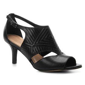 781161e25 Sandália Couro Shoestock Salto Fino New Matelassê Feminina
