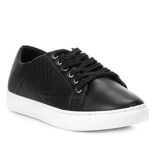 ebc07db7c Tênis Couro Shoestock Matelassê Feminino - Preto - Compre Agora ...