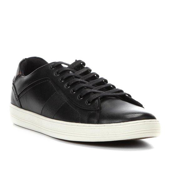 c7cb1e8c1d Tênis Couro Shoestock Recorte Masculino - Preto | Shoestock