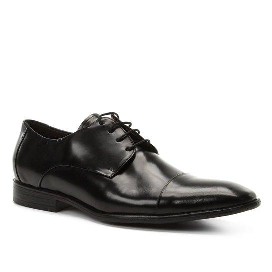 ab486a5fc2 Sapato Social Couro Shoestock Tradicional Romana Masculino - Preto ...