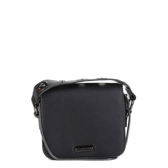 bbbf77879 Bolsa Shoestock Mini Bag Tiracolo Metais Feminina - Preto   Shoestock