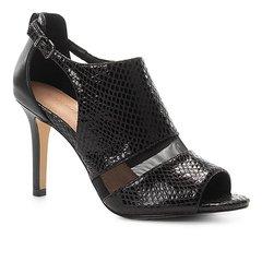 fe1be65a2 Sandália Couro Shoestock Snake Tela Feminina