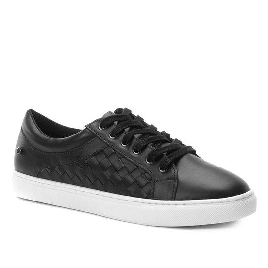 30f7e0f36 Tênis Couro Shoestock Trançado Feminino - Preto - Compre Agora ...