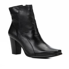 b734ee1fc Bota Couro Shoestock Básica Salto Médio Feminina